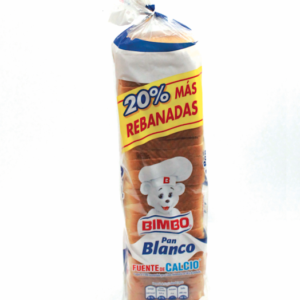 Pan de molde blanco Bimbo extra grande