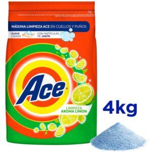 Detergente en Polvo ACE Limón Bolsa 4Kg