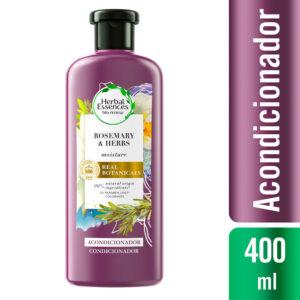 Acondicionador Herbal Essences Moisture Rosemary & Herbs Frasco 400 ml