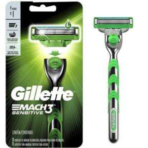 Gillette maquina para afeitar recarg. MACH3 SENSITIVE