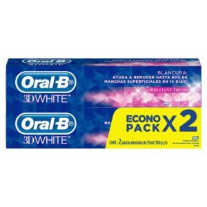 Crema dental Oral B 3D WHITE 75ML 2UN