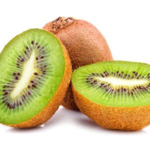 Cut fruit of kiwi Isolated Located on White background